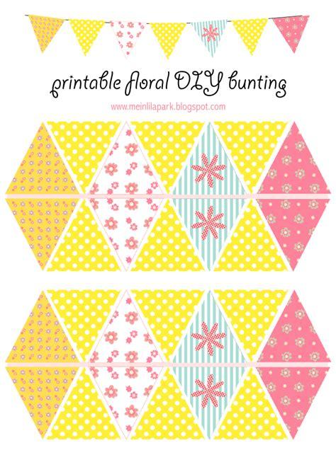 printable bunting flag free printable floral diy bunting ausdruckbare girlande