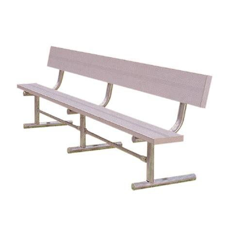 park bench lowes shop ultra play 180 in l aluminum park bench at lowes com