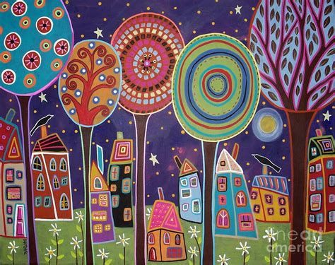 Wholesale Home Decor by Night Village Painting By Karla Gerard
