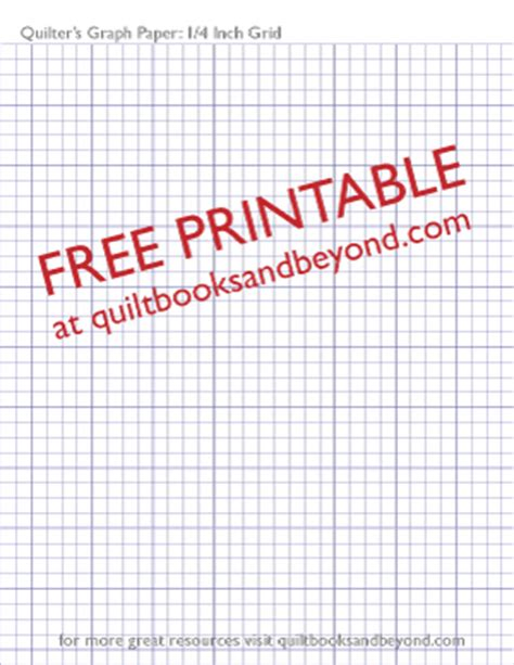 printable graph paper 1 inch free printable resource quilter s graph paper with 1 4