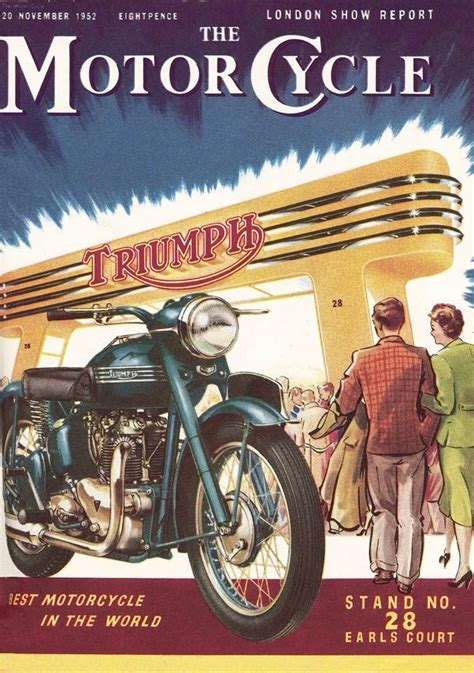 Alte Motorrad Plakate by Triumph Caferacerpasion Post