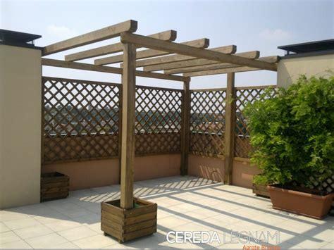 pergolati in legno per terrazzi pergole e pergolati in legno cereda legnami agrate brianza