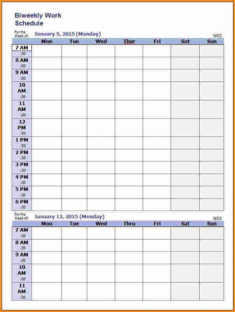 weekly work schedule template 7 weekly work schedule template authorization letter