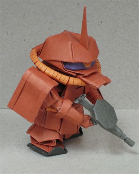 Origami Gundam - mobile suit gundam robots folded out of paper