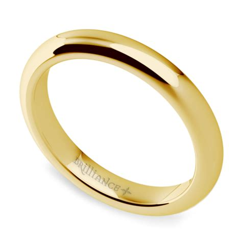 Mens Comfort Fit Gold Wedding Bands by Comfort Fit S Wedding Ring In Yellow Gold 3mm
