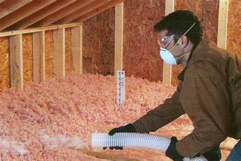 blown in insulation in attic attic insulation