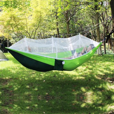 outdoor hanging hammock bed with mosquito net