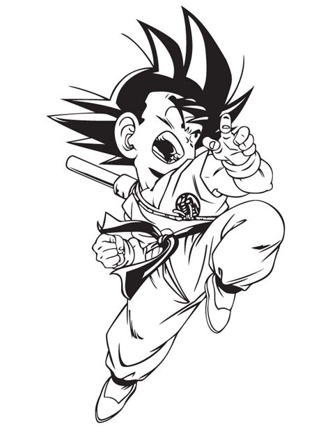 dragon ball gt kid goku coloring page h m coloring pages