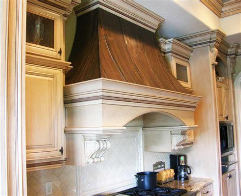Copper Kitchen Exhaust by Wood Copper Kitchen Range Traditional Range Hoods