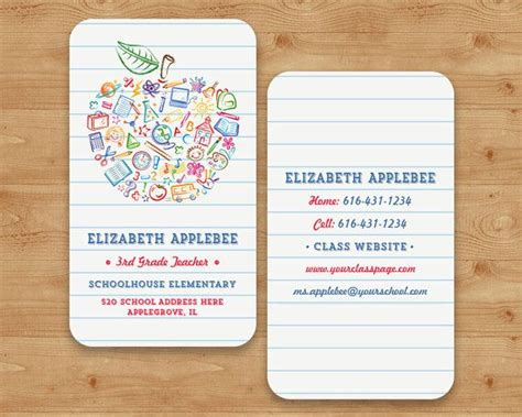 substitute teacher business cards beautiful what to put on a