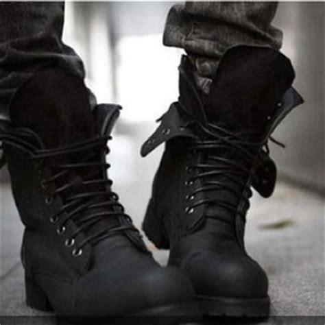 mens fold combat boots mens fold black combat boots on the hunt