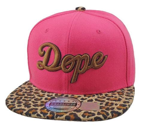 Dope Brown Leoopard Snapbacks flat bill snapback hat 3d dope hip hop pink brown cheetah print anima