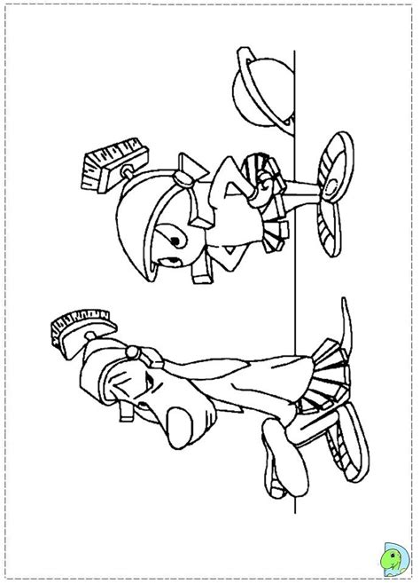 marvin the martian coloring page az coloring pages