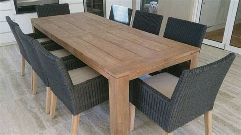 outdoor wood dining table 389 best images about back yard furnishings on