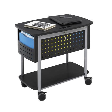 Safco File Cabinets by Shop Safco Scoot Black File Cabinet At Lowes