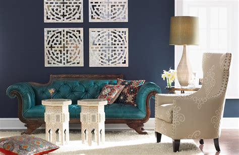 teal sofa decorating ideas color roundup using navy blue in interior design the