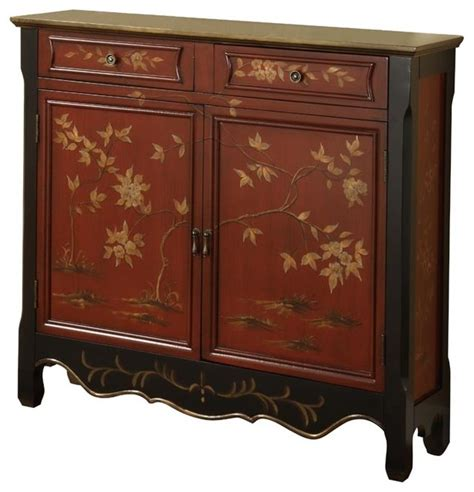 console table with drawers and doors red oriental two doors drawers storage console table with