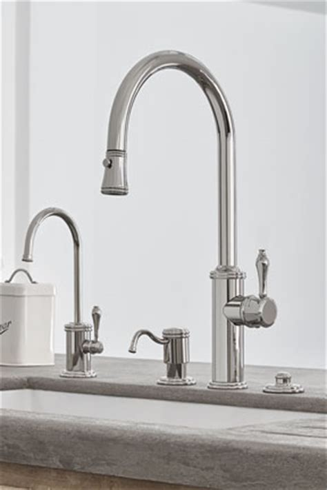 California Faucet Company by Davoli Pull Kitchen Faucet In Polished Nickel Pvd