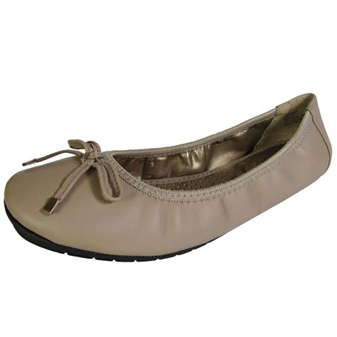 flat shoes womens me womens halle leather ballet flat shoe ebay