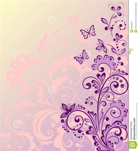 beautiful design beautiful floral border stock vector image 53352502