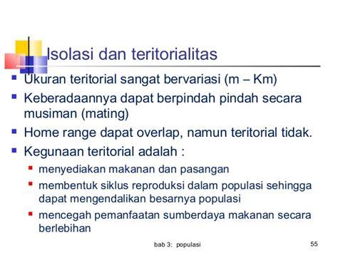 daerah teritorial adalah bab 3 populasi dalam ekosistem