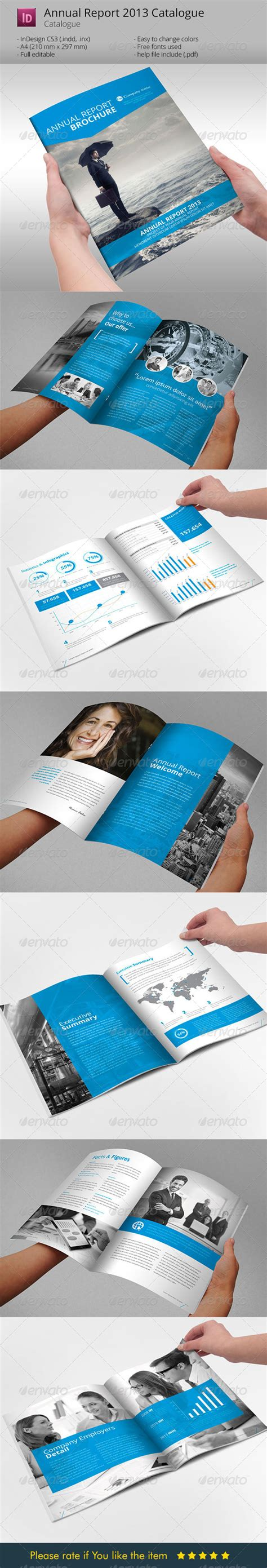 annual report brochure indesign template graphicriver