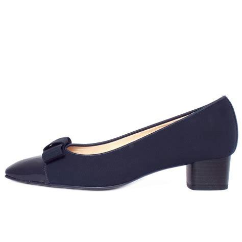 low shoes kaiser beli s low heel navy court shoe with