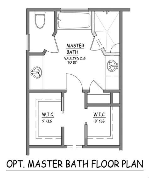 master bathroom design plans i like this master bath layout no wasted space efficient separate closets plus linen