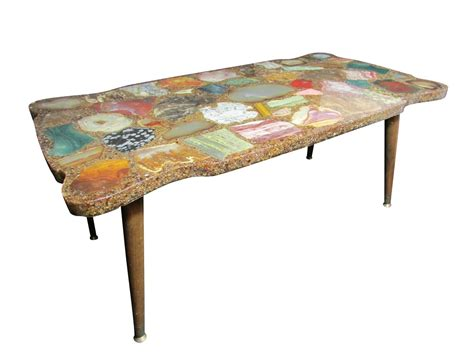 vintage geode slice coffee table at 1stdibs