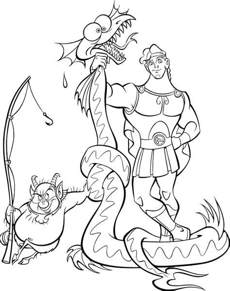 Hercules Coloring Page Hercules Coloring Pages Coloringpages1001 Com