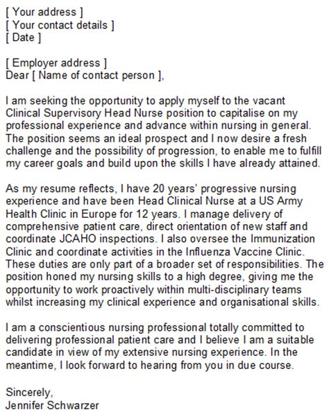 writing a nursing cover letter nursing covering letter sle for nurses of all grades