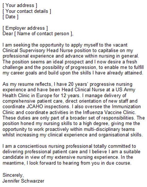 Nursing Covering Letter Sample for Nurses of all Grades