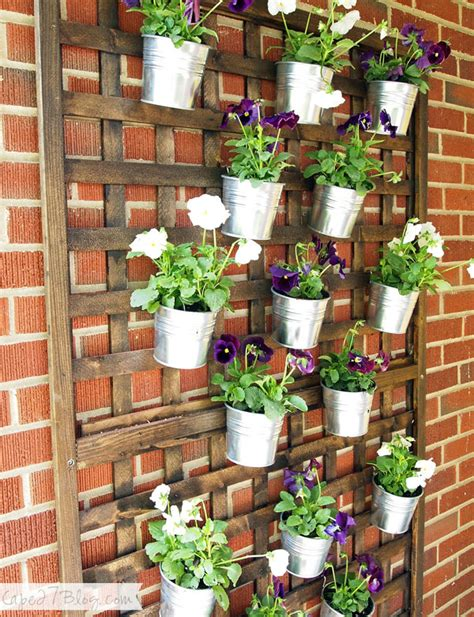 Vertical Planters Ideas by Diy Vertical Wall Planter