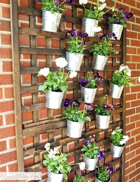 Vertical Planter Ideas by Diy Vertical Wall Planter