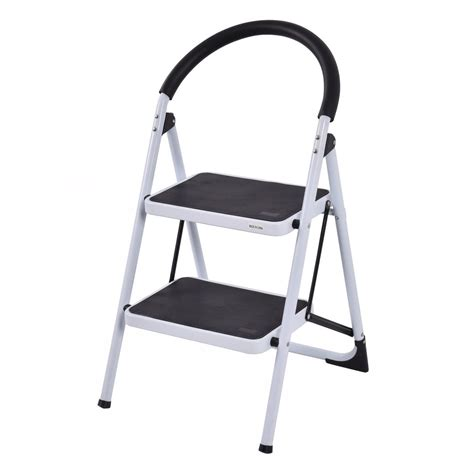 Industrial Folding Step Stool by 2 Step Ladder Folding Stool Heavy Duty 330lbs Capacity