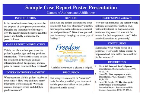 poster presentation for report search