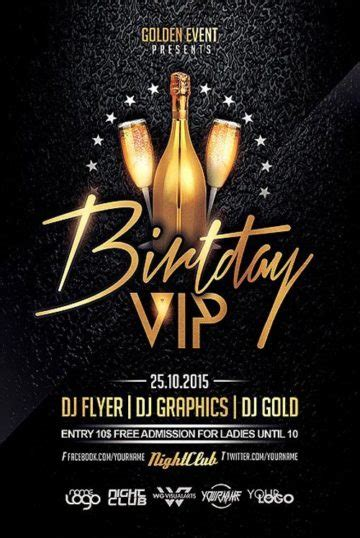 Download Birthday Flyer Templates For Photoshop On Ffflyer Com Birthday Flyer Template