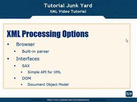 Tutorial Xml Youtube | xml tutorial 63 xml processing options youtube