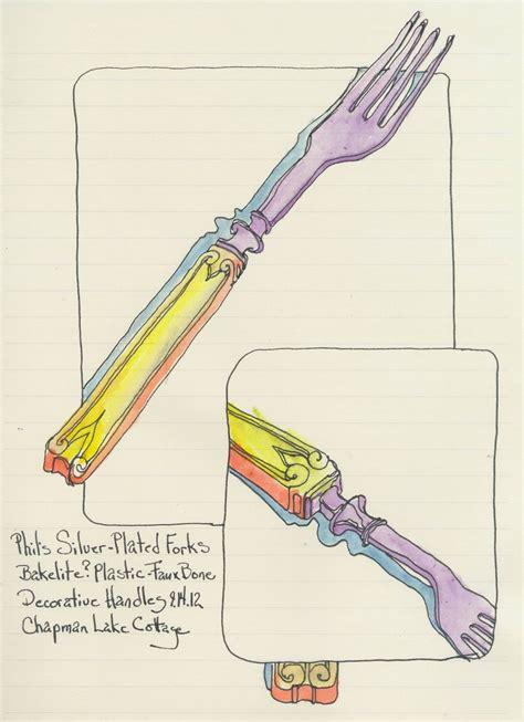 sketchbook web vintage forks at chapman lake cottage creative color