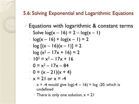 Solving Exponential And Logarithmic Equations Worksheet by Solve Logarithmic Equations Nolitamorgan