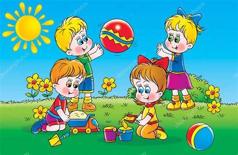 imagenes libres juego ni 241 os jugando aire libre foto de stock 169 alexbannykh