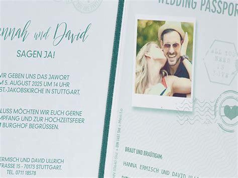 Hochzeitseinladung Passport by Hochzeitseinladungen Wedding Passport B108 045