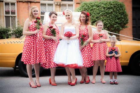 1950s rockabilly and polkadot wedding carrie neil 183 rock n roll