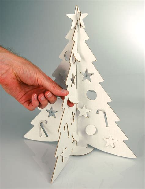 Paper Cut Crafts - tiny tabletop cardboard tree from cloudgate