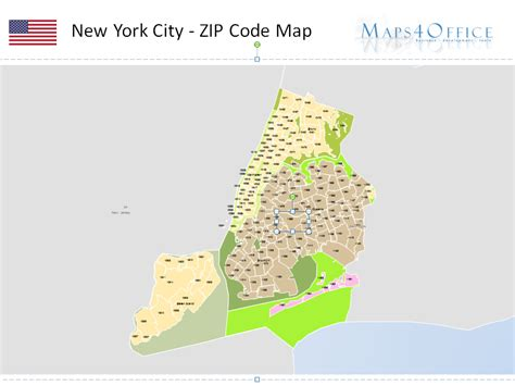 zip code map new york city new york map zip code powerpoint