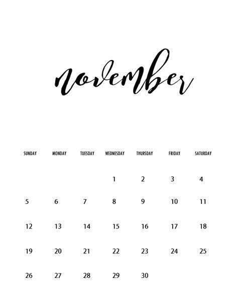 printable november 2017 calendar pretty free wall calendars 2017 printable minimalist style new