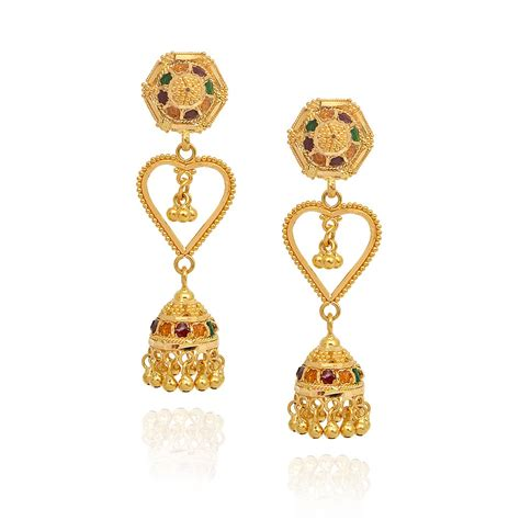 gold earrings jhumka design hd jhumki earrings india gold