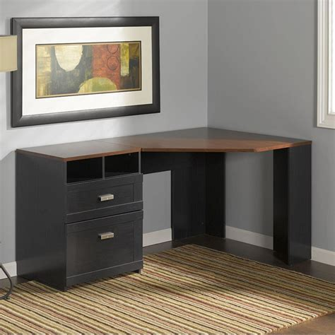 small black corner desk corner computer desk with file cabinet black corner