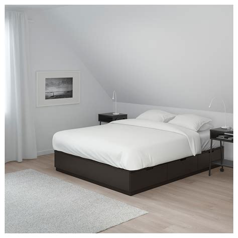 nordli bed nordli bed frame with storage anthracite 160x200 cm ikea