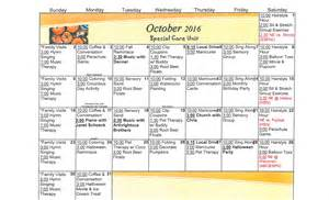Assisted Living Activity Calendar Template by Nursing Home Activity Calendars Calendar Template 2016
